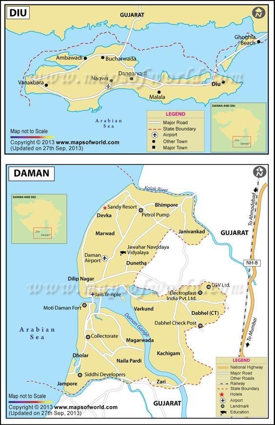 DAMAN & DIU Map