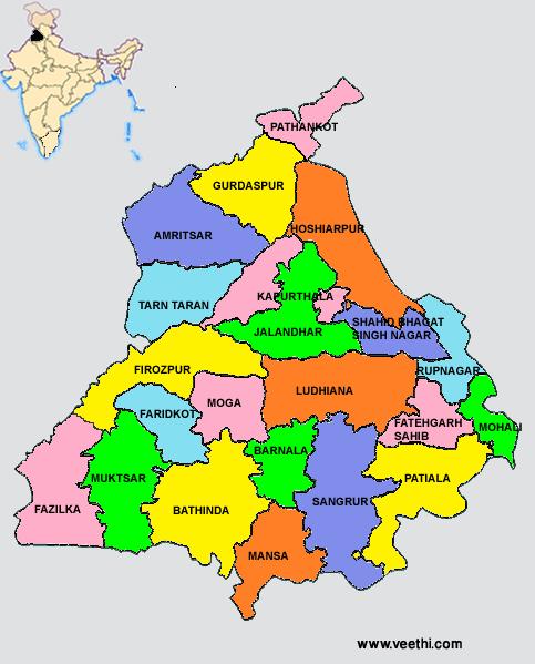 Panjab Map